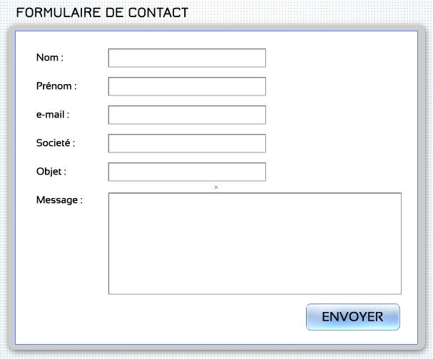 R solu question alignement d 39 inputs dans un formulaire - Formulaire de contact ...