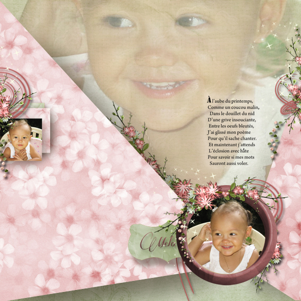 kit romantic spring simplette page stefairy